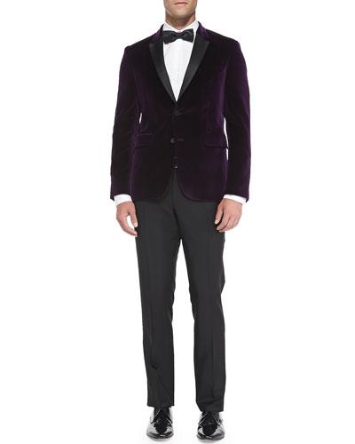 Velvet Evening Jacket, Woven Button-Down Shirt, Wool/Mohair Tailored ...