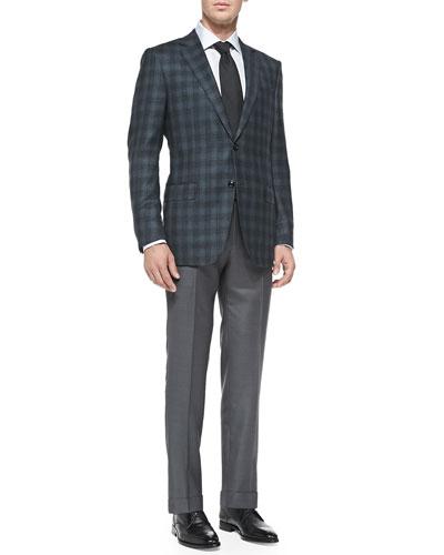 Plaid Wool Jacket, Twill Trousers & Accessories