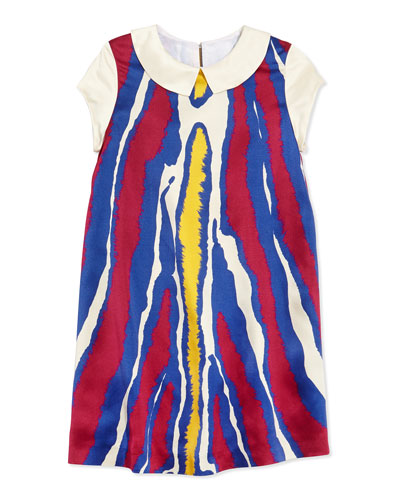 Girls' Abstract Print Charmeuse Shift Dress