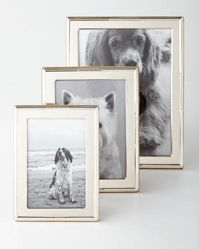 Beaded-Edge Sterling Silver Frames