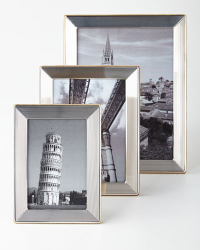 Sterling Silver Pinstripe Frames