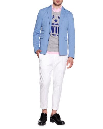 Schoolboy Cotton-Gabardine Jacket, Logo Short-Sleeve Sweatshirt, ...