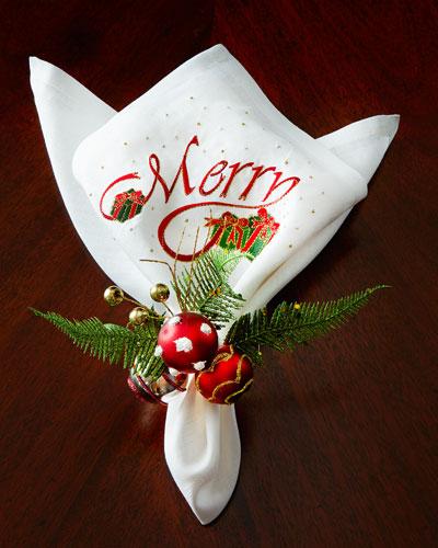 Merry Napkin & Deck the Halls Napkin Ring
