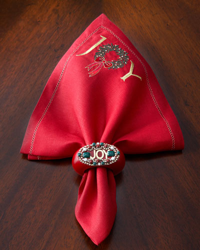 Joy Napkin & Napkin Ring
