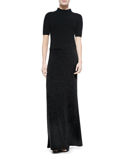 Jodi Mock-Neck Knit Top & Niya Knit Maxi Dress