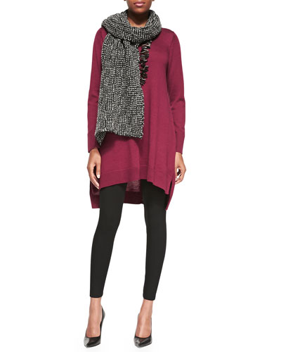 Merino Jersey Layering Dress, Viscose Jersey Leggings & Eco Pebble Box Scarf