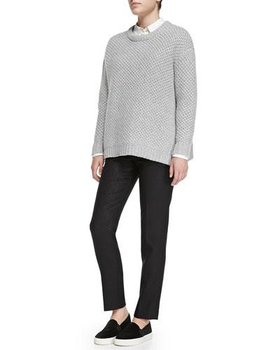 Nora Merino Crewneck Sweater, Lyra Poplin Blouse & Nora Merino Crewneck ...