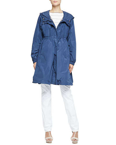 Lightweight Tech Fabric Trench Coat with Removable Vest & Short-Sleeve ...