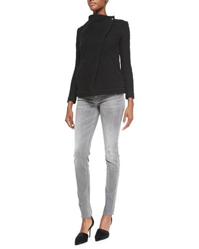 Heddi Patterned Knit Jacket, Ornela Sequin/Sheer Striped Top & Night ...