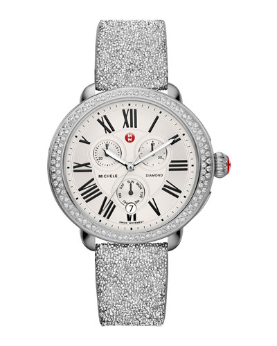 Serein Diamond Watch Head & 18mm Crystal Watch Strap