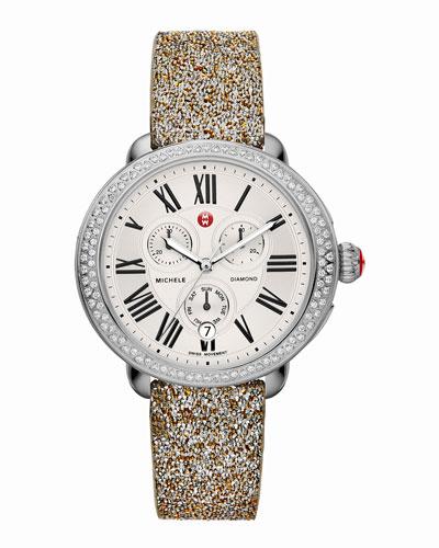 Serein Diamond Watch Head & 18mm Crystal Watch Strap