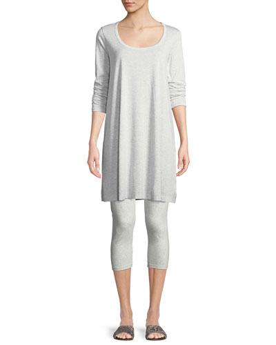 Scoop-Neck Long-Sleeve Tunic & Stretch-Jersey Leggings