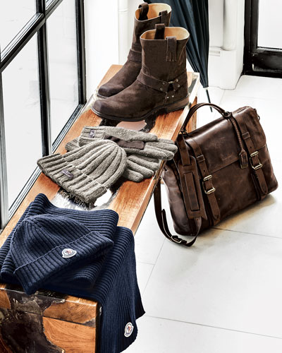 Frye Briefcase & Boot, UGG Australia Hat & Gloves Set, & Moncler Scarves & Skull Caps