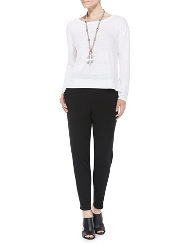Linen Jersey Box Top & Slouchy Tapered Pants