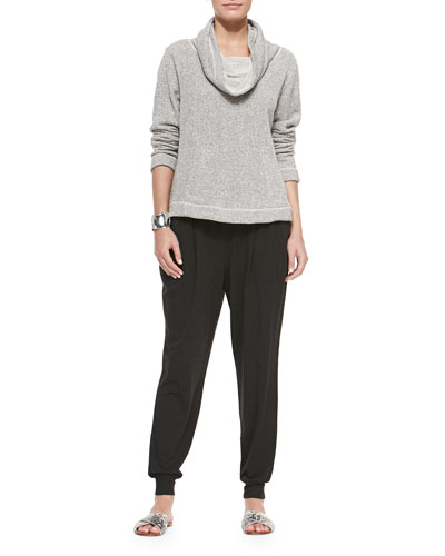 Twisted Terry Box Top & Cozy Slouchy Ankle Pants
