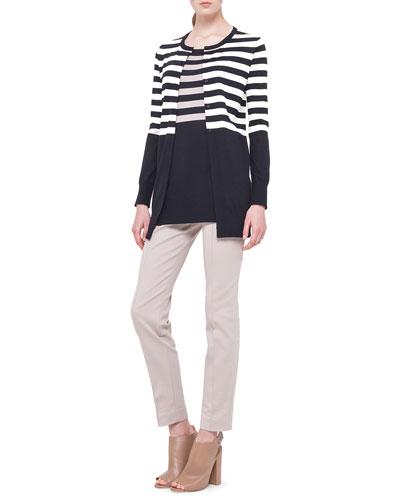 Striped Long Boyfriend Cardigan, Striped Long Tank Sweater & Fabia ...