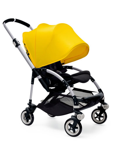 Bee3 Stroller Base, Stroller Seat Fabric & Extended Sun Canopy