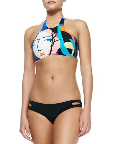 Face It Printed Swim Top & Hipster Bottom