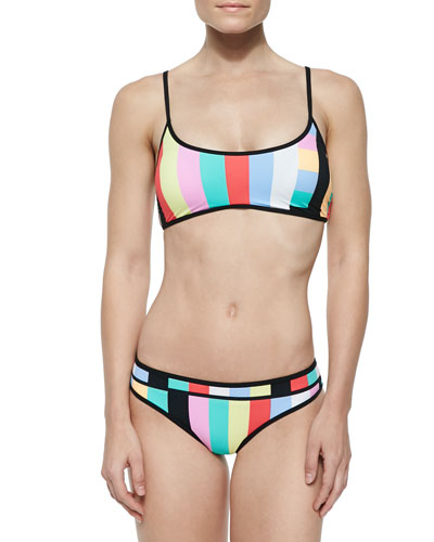 Bandwave Striped Swim Top & Bottom