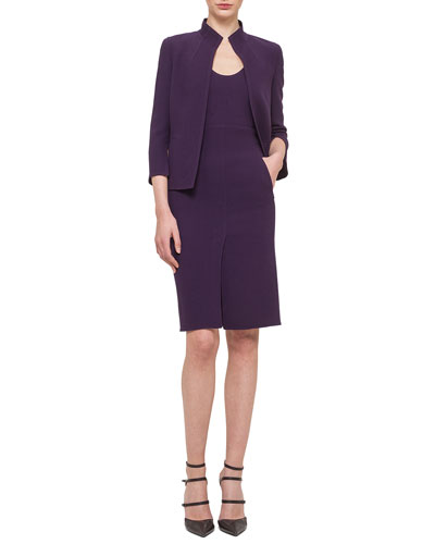 Double-Faced Crepe Short Jacket & Double-Faced Crepe Scoop-Neck Sheath Dress