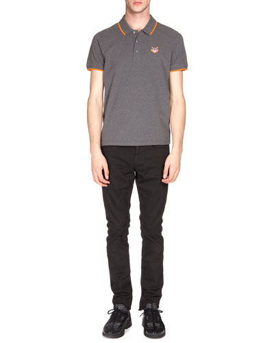 Tipped Tiger Short-Sleeve Pique Polo Shirt & Brushed-Cotton Chino Pants