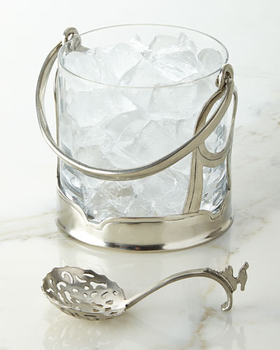 Taverna Ice Bucket & Decorative Spoon