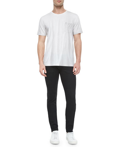 Short-Sleeve Crewneck Tee & Slim Skinny-Leg Denim Jeans