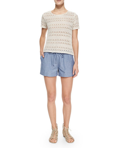 Neala Embroidered Top & Sivan Drawstring Shorts