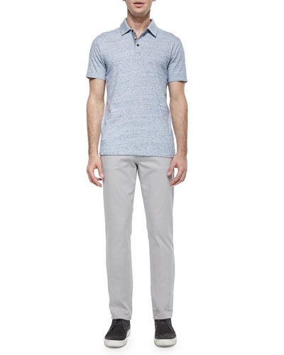 Jasper Short-Sleeve Jersey Polo Shirt & Five-Pocket Stretch-Twill Pants