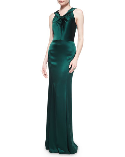 Liquid Satin Twisted Gown