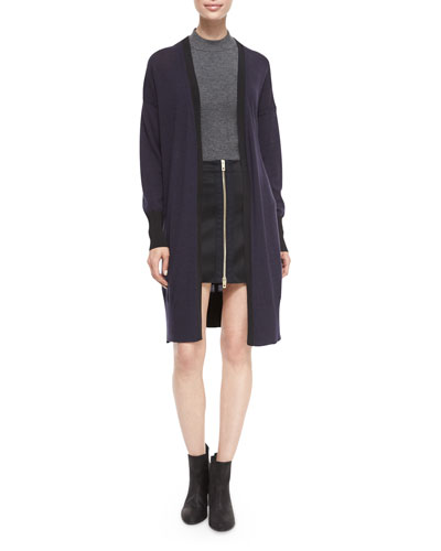 Jessica Long Open-Front Cardigan & Nettie Zip-Front Skirt