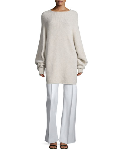 Kandel Oversize Cashmere Sweater & Appel Seamed Wide-Leg Pants
