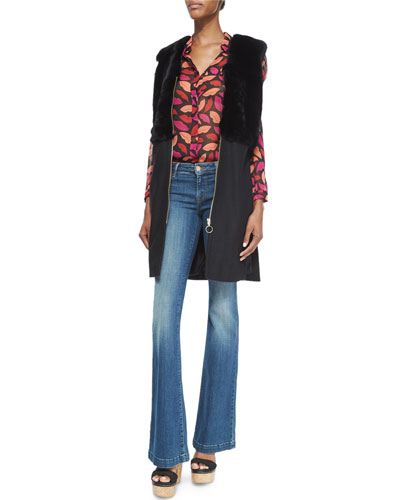 Mariah Midnight Kiss Silk Blouse & Another Love Story Boot-Cut Jeans