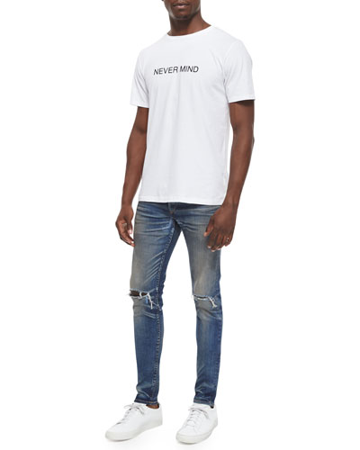 Nevermind Graphic Knit Tee & Waterloo Distressed Skinny Jeans
