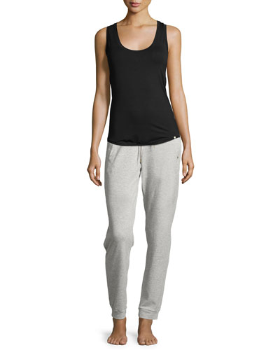 Yoga Basic Scoop-Neck Racerback Tank & Yoga Fashion Drawstring Pants