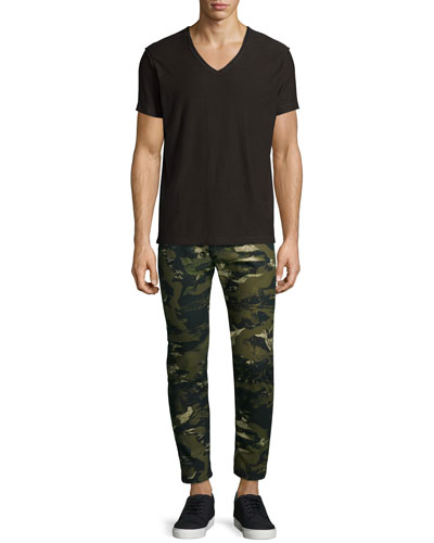T-Tossik Short-Sleeve Tee & Camo-Print Slim Jeans