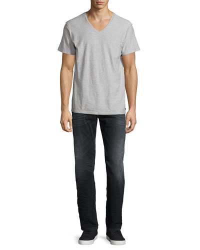 T-Tossik Short-Sleeve Tee & Larkee Washed Straight-Leg Denim Jeans