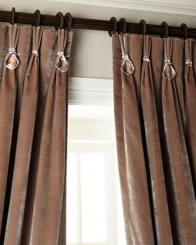 Velvet Curtains with Asfour Crystals