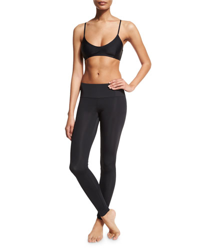UPF 50 Pullover Bra Swim Top & Full-Length Swim Leggings