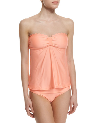 Hamptons Babydoll Scalloped Bandini Top & Banded Swim Bottom