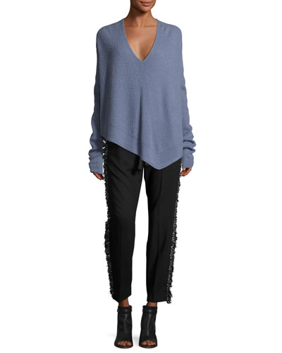 Asymmetric Ribbed Cashmere-Blend Sweater and Matching Items