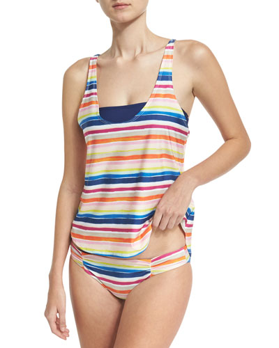 Water Color Double-Dip Tank & Bandeau Swim Top and Matching Items