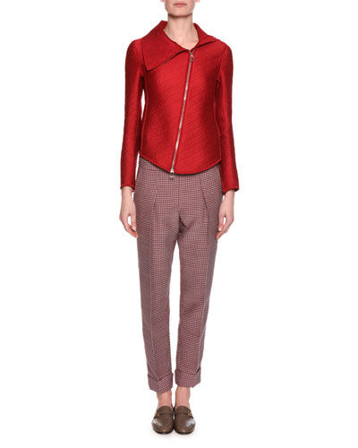 Houndstooth Cropped Pant, Red and Matching Items