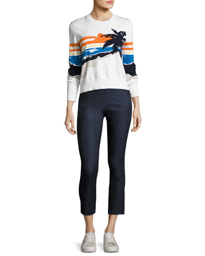 Simone Cropped Denim Pants and Matching Items
