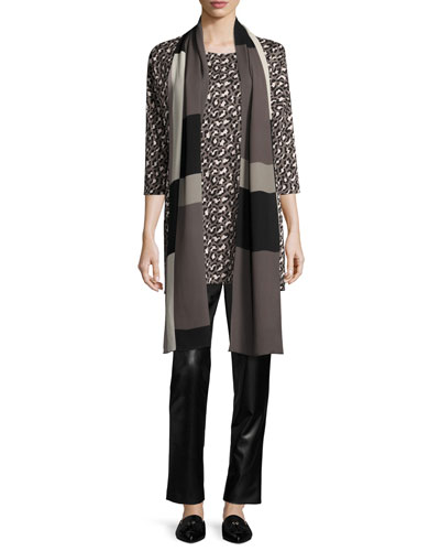 Animal-Print Half-Sleeve Easy Tunic  and Matching Items