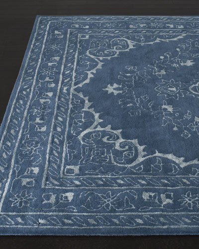 Jaycee Blue Hand-Tufted Rug, 4' x 6' and Matching Items