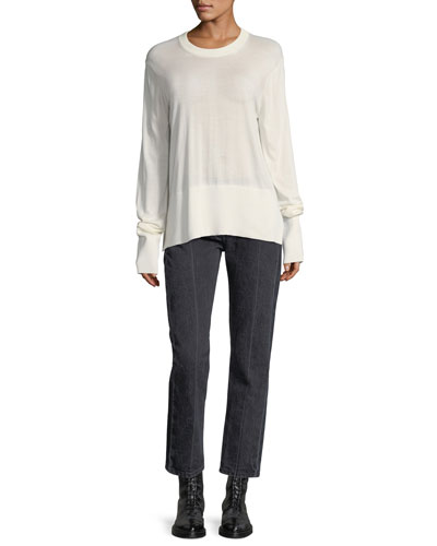 Ashland Cropped Straight-Leg Jeans and Matching Items