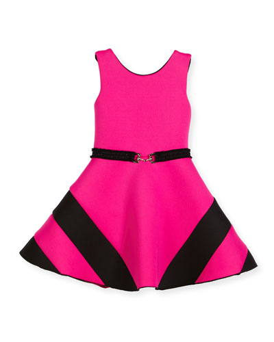 Colorblock Belted Dress, Size 4-6X and Matching Items