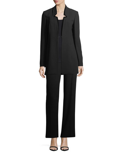 Maclaine Velvet-Tipped Blazer and Matching Items