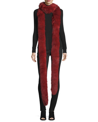 Mid-Rise Fitted Zip-Cuffs Stretch Wool Pants and Matching Items
